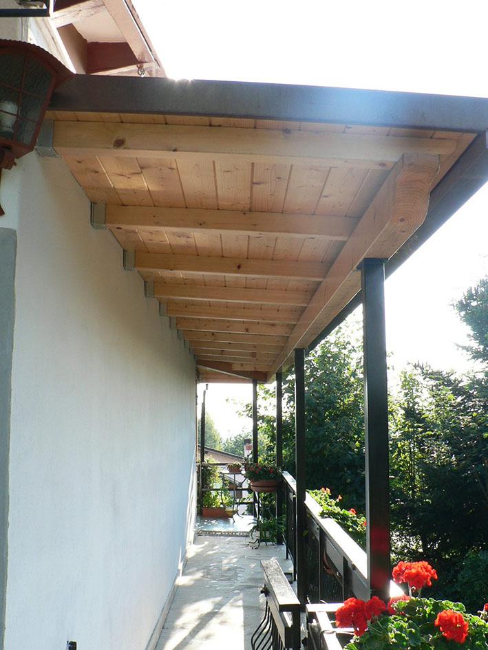 Estremamente Tettoie in legno | Fabbro Verona RA56